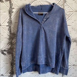 Blue Acid wash Free Press lounge cozy hoodie